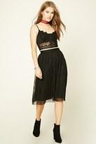 Forever 21 FOREVER 21+ Pleated Tulle Skirt