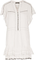Isabel Marant Ral embellished pleated cotton mini dress