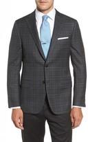 Hickey Freeman Men's Beacon Classic B Fit Plaid Wool Sport Coat