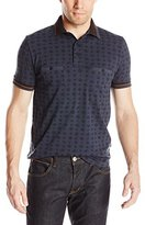 French Connection Men's Tribal Diamond Polo Shirt