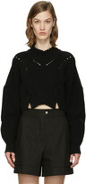 Isabel Marant Black Cropped Gane Sweater