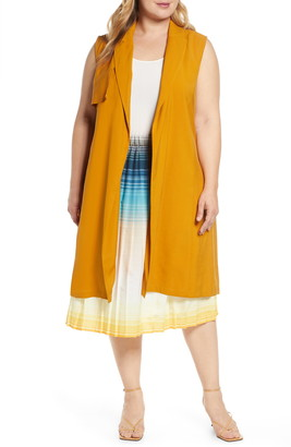ELOQUII Sleeveless Trench Coat