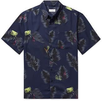 Saturdays NYC Button-Down Collar Printed Lyocell Shirt