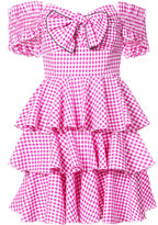 Caroline Constas ruffled gingham dress - women - Cotton - M
