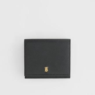 Burberry Monogram Motif Grainy Leather Folding Wallet