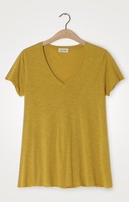 American Vintage Jacksonville V Neck T Shirt 51 - S / Vintage Mustard