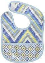 Caden Lane Ikat Collection Chevron Coated Bib, Blue by