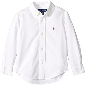 Polo Ralph Lauren Kids Cotton Oxford Sport Shirt (Toddler) (White) Boy's Long Sleeve Button Up