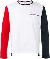 Thom Browne colour block T-shirt - men - Cotton - 0