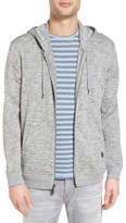 John Varvatos Men's Melange Cotton Zip Front Hoodie