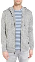 John Varvatos Men's Melange Cotton Zip Front Hoodie
