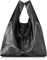MM6 Maison Martin Margiela Black Glossy Eco Leather Tote