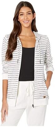 Roxy Trippin Stripes Hooded Sweatshirt (Mood Indigo Zoupla Horizontale) Women's Clothing