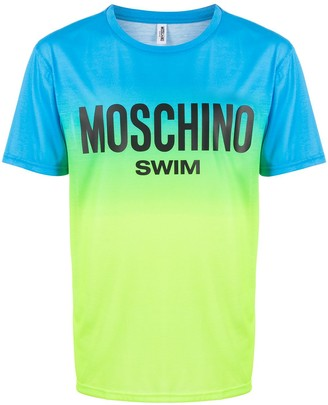 Moschino two-tone logo swim print T-shirt