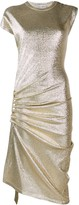 Paco Rabanne metallic ruched asymmetric dress