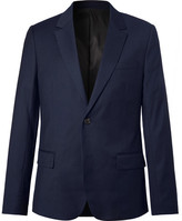Ami Navy Wool-Flannel Blazer