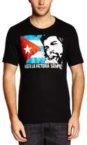 Logoshirt Men's Easy Fit Che Guevara - Cuban Flag Crew Neck Short Sleeve T-Shirt
