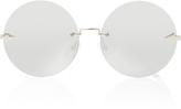 Karen Walker Silver-Tone Round-Frame Sunglasses