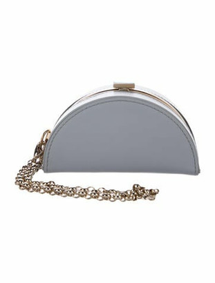 ADEAM Mini Half Moon Clutch blue