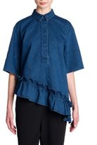 Marni Denim Ruffle Shirt