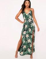 PrettyLittleThing Tropical Maxi Dress