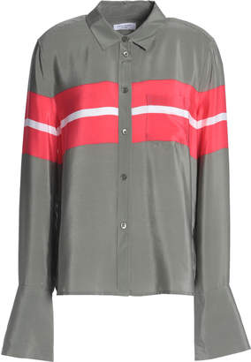 Equipment Color-block Washed-silk Shirt