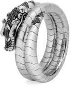 John Hardy Legends Naga Black & Blue Sapphire Double Coil Bracelet