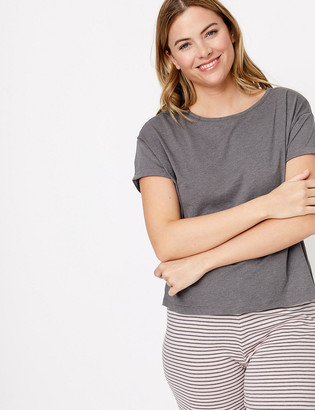 Marks and Spencer Cotton Striped Short Sleeve Pyjama Set