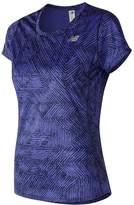 New Balance Women's Accelerate Printed Short Sleeve Tee