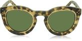 Celine AGNES CL 41403/S T7H1E Havana Acetate Round Women's Sunglasses