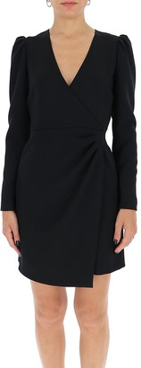 RED Valentino Crepe Double Stretch Wrap Dress