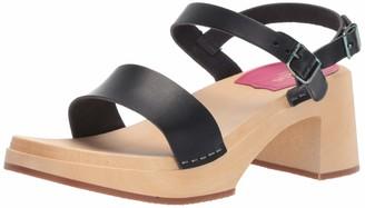 Swedish Hasbeens Women's Gittan Heeled Sandal Gold 38 Regular EU (38-8 US)