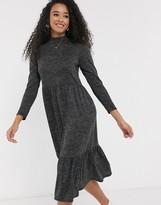 New Look seam midi dress in dark gray