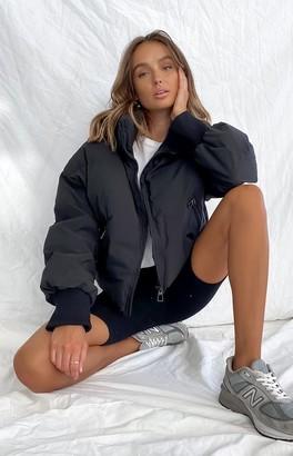 Beginning Boutique Remi Puffer Jacket Black
