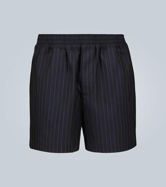 Éditions M.R Pinstriped cotton-blend shorts