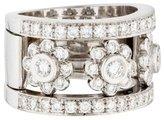 Ring 18K Diamond Floral Band