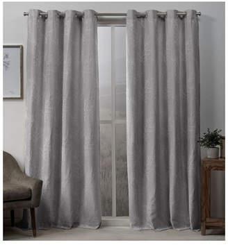"Exclusive Home Stanton Branch Textured Grommet Top Curtain Panel Pair, 54"" x 96"""