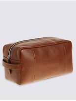 M&S Collection Pebble Grain Leather Washbag