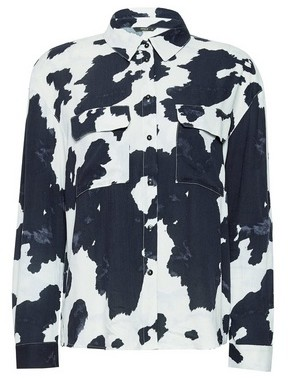 Dorothy Perkins Womens **Only White Cow Print Shirt, White