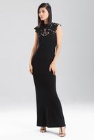 Josie Natori Double Knit Jersey Maxi Dress