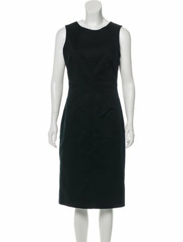 Dolce & Gabbana Sleeveless Midi Dress Black
