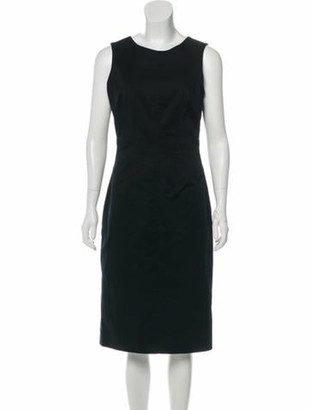 Dolce & Gabbana Sleeveless Midi Dress Black