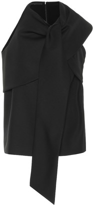 Haider Ackermann Draped wool-crepe top