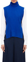 Maison Margiela Women's Side-Tied Sleeveless Turtleneck Sweater-BLUE