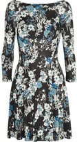 Erdem Vivi Floral-print Jersey Mini Dress - Black