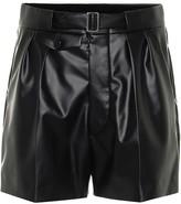 Maison Margiela High-rise faux leather shorts