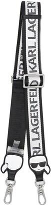 Karl Lagerfeld Paris Logo Print Bag Strap