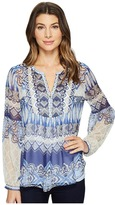Hale Bob Cruise Control Washed Silk Georgette Top Women's Clothing