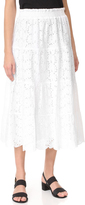 Tory Burch Broderie Smocked Skirt