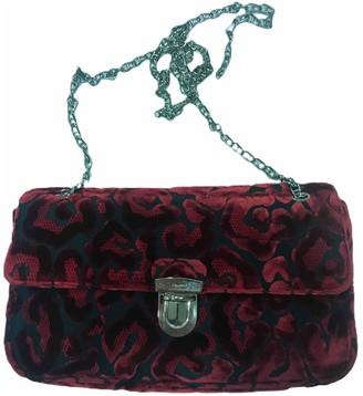 Prada Burgundy Velvet Handbags